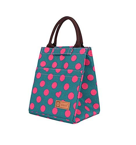 Rose Rote Punkte Heart-shaped Wasserfeste Kapazität Lunch Bag