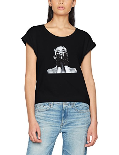 MERCHCODE Ladies Selena Gomez Black Gloves Tee T-Shirt Femme