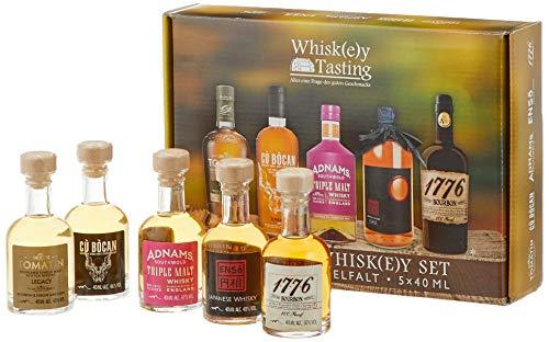 Premium Whisky Set Miniaturen: Tomatin Whisky Legacy, Whiskey Cu Bocan, Enso japanischer Whisky, 1776 Bourbon Whiskey - das perfekte Geschenk für Whisky/Spirituosen - Liebhaber Bourbon Whisky Mini