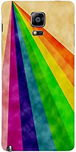 Snoogg Rainbow Power 2377 Case Cover For Samsung Galaxy Note 4