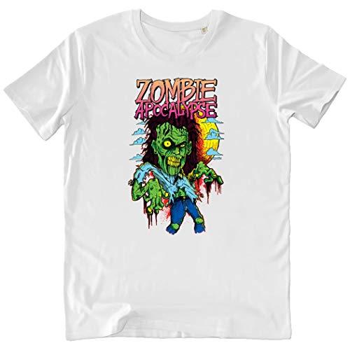 Pushertees-Store - T-Shirt Herren White - Zombie Apocalypse -