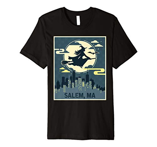Salem Massachusetts Hexe Halloween Night T-Shirt