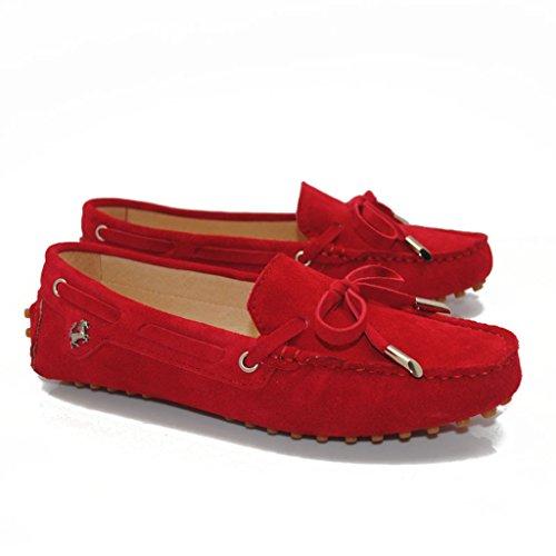 Meijili , Sandales Plateforme femme Rouge