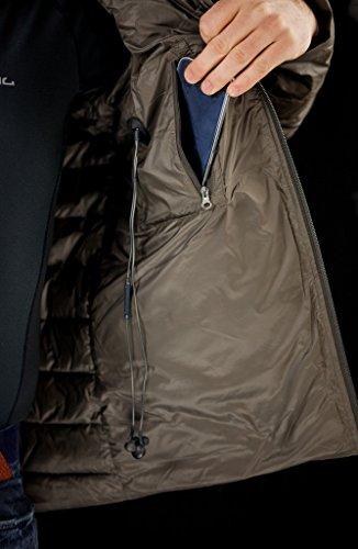 Jeff Green Herren Leichte 750 Cuin Daunenjacke Alex Inklusive Transportbeutel, Größe - Herren:48, Farbe:Black - 4