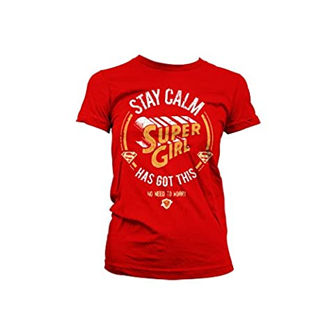 Officially Licensed Merchandise Supergirl Has Got This Girly T-Shirt (Red),