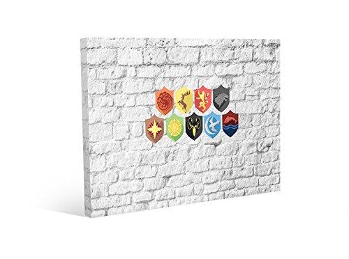 bubbleshirt Quadro 50 x 70 cm Simboli casate Il Trono di Spade Game of...