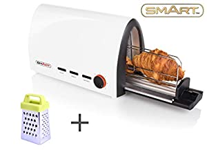 SMART Tunnel Toaster Bundle with Free Mini Grater - Buns, Croissants, Bagels, Baguettes, Pitta - STT7000