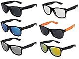 Hochwertige Nerd Sonnenbrille Rubber Retro Vintage Unisex Brille mit Federscharnier