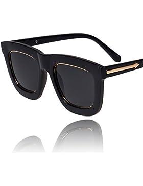 Gafas de sol de metal flecha/B lado marco grandes gafas de sol/Gafas de sol vintage de Corea en negro/Gafas de...