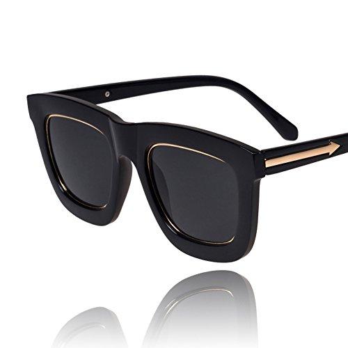 Metallpfeil Sonnenbrillen/B Seite große Rahmen Sonnenbrillen/Korea Vintage Sonnenbrillen in Schwarz/Sonnenbrillen für Männer und - Korea Sonnenbrillen Männer