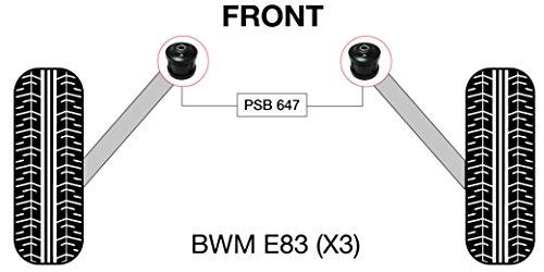 PSB polyuréthane Bush X3 E83 (00-06) Avant Radius Arm bushing kit - Psb647