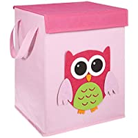 FABELBUNT® Foldable Toy Boxes with Colorful Motifs and Cover (37x 30x 26cm)