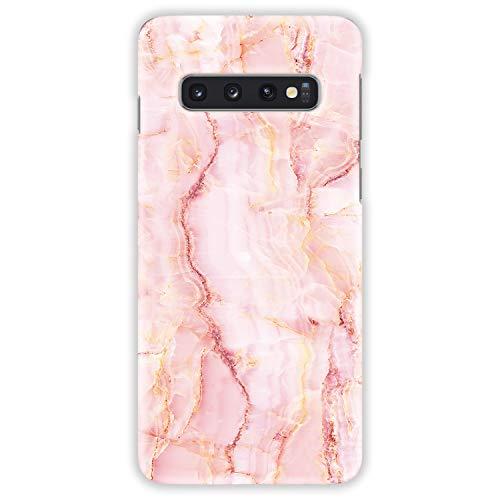 TheSmartGuard Hülle kompatibel für Samsung Galaxy S10 Plus (Galaxy S10+) Hülle Crystal Kristall Rosa Gelb Weiß Hard-Case Schutzhülle aus Kunststoff Cover Rosa Crystal Hard Case Cover