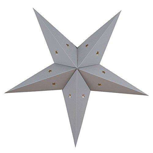 Under The Paper Lantern - Grau Papier Stern Laterne, 60cm. Perfekt als Dekoration für Kinderzimmer, Party, Hochzeit und Geburtstag.
