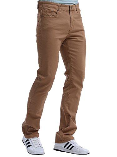Alice & Elmer Herren Slim Fit Straight Leg Jeans Khaki