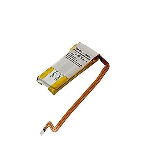 subtel® Batterie premium pour Apple iPod 5 Gen. A1136 (Video), iPod 6 Gen. A1136 A1238, Apple iPod 7 Gen. A1238 (450mAh) EC008 Batterie de recharge, Accu remplacement