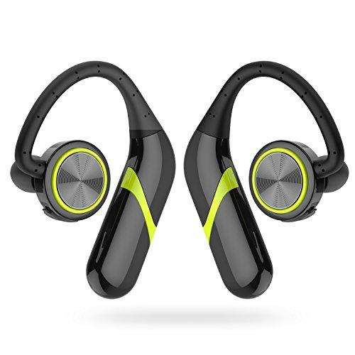 GSPON Bluetooth Headset, Sport Stereo Kopfhörer Noise Cancelling Sweatproof Ohrhörer für Lauf Gym (Kopfhörer Stereo Noise Cancelling)