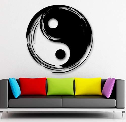 hllhpc Wandtattoo Chinesischen Stil Vinyl Aufkleber Tai Chi Asiatischen Orientalischen Schlafzimmer Wohnzimmer Dekoration Haus Zubehör Dekor 42 * 42 cm
