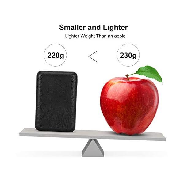 POSUGEAR PowerBank 10000mAh, Caricatore Portatile Mini, Batteria Esterna con 2 USB Porte 5V (2.1A + 1A), per iPhone… 3 spesavip