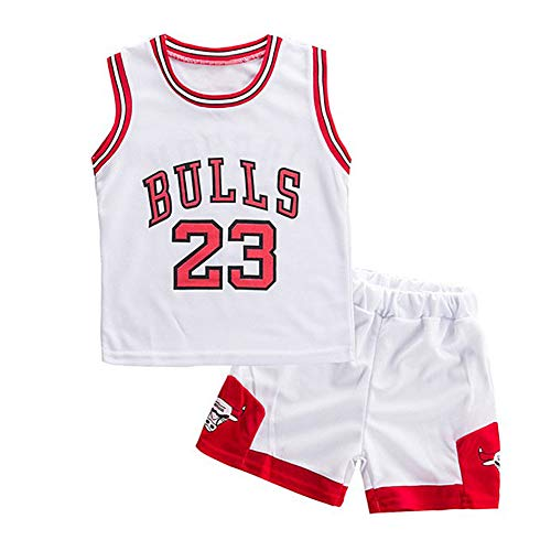 Modaka 2PCS Bambini Basket Set Divise Sportive per Ragazzi Senza Maniche Sportswear Traspirante T Shirt e Pantaloncini Set Sport