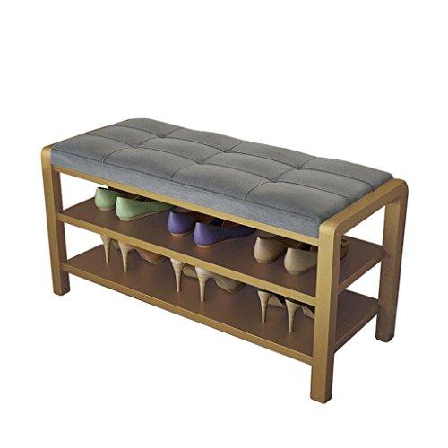 Dekorative Schuh-speicher (Stühle 80 * 49CM Grauer Leinenstahl-Schemel-Schuh-Speicher-Schemel-Garderoben-Schemel dekorative Bank)