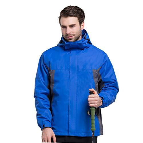 Huifa giacca da uomo e donna giacca outdoor tre-in-one impermeabile caldo alpinismo delle ande (colore : men blue a, dimensioni : s.)