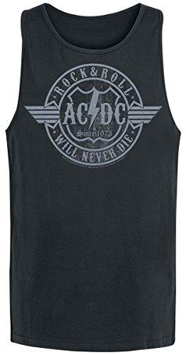 AC/DC Rock & Roll - Will Never Die Tank-Top schwarz - Dc Ac Tank Top