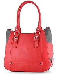 Butterflies Women's Handbag (Red) (BNS 0546RD)