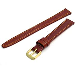 Genuine Leather Watch Strap Band by CONDOR Buffalo Grain 8mm Tan G 086R