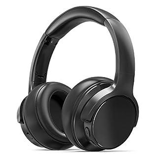 Bluetooth Kopfhörer Over Ear Kopfhörer 20 Stunden Spielzeit, Memory-Protein Ohrpolster, CVC6.0 Mikrofon Freisprechen für Smartphone PC