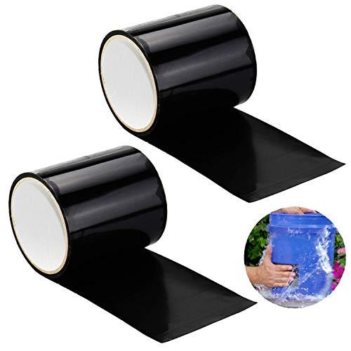 INTVN 2pcs Wasserdichtes Klebeband, PVC Leck-Reparatur, selbstklebendes Klebeband, Befestigungswerkzeug für Notfall-Rohrleitungen und Wasserschläuche, Elektrische Kabel