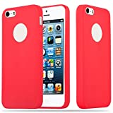 Cadorabo Coque pour Apple iPhone 5 / iPhone 5S / iPhone Se en Candy Rouge – Housse...