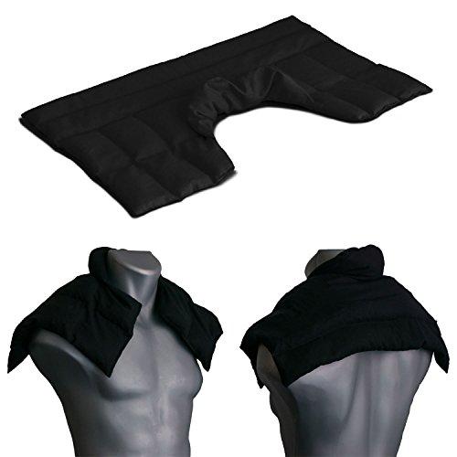 Bio-Dinkelkissen Schulter & Nackenkissen mit Kragen | schwarz | Gute Wärme für den Nacken | Unser Wärme-Nackenkissen ist eine große Alternative zum Nackenhörnchen