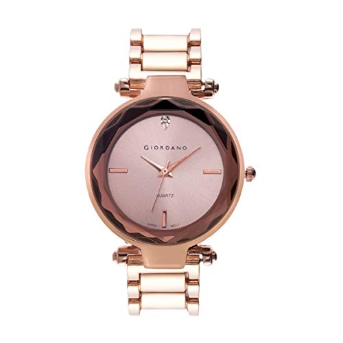 Giordano Analog Rose Gold Dial Women's Watch-C2193-55