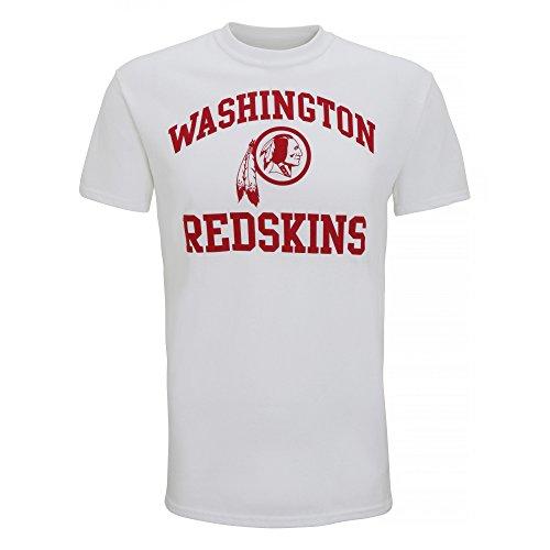 American Sports Merch Herren T-Shirt mit Washington Redskins Logo, kurzärmlig Weiß
