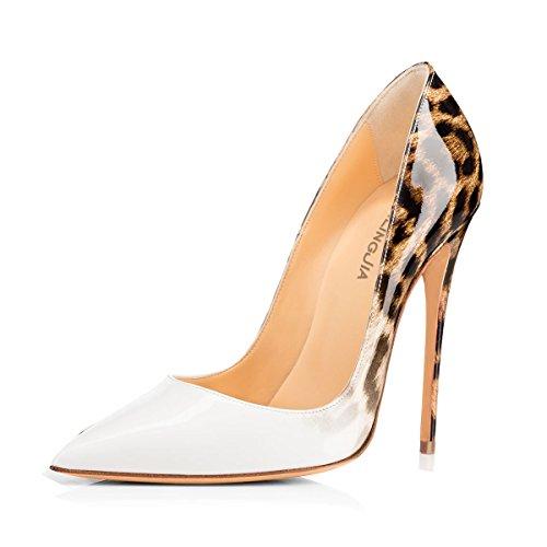 uBeauty - Scarpe da Donna - Scarpe col Tacco - Classiche Scarpe col Tacco Bianco