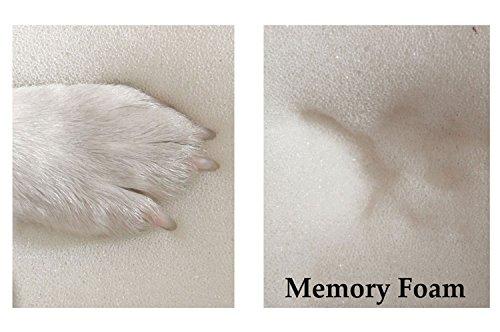 tierlando® Orthopädische Hundematratze ALICE VISCO aus robustem Polyester 600D | Antirutsch | 9 cm | 60 80 100 120 150 cm S M L XL XXL 10 Farben (XL 120 x 90 cm, 9 Lila) - 4
