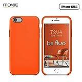 Moxie Coque iPhone 6/6S [BeFluo] Coque Silicone Fine et Légère pour iPhone 6S et iPhone 6, Intérieur Microfibre, Coque Anti-Chocs et Anti-Rayures pour iPhone 6S/6 - Orange