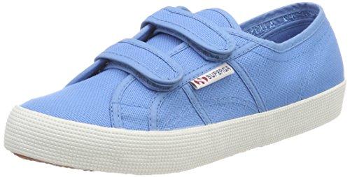 Superga Unisex-Kinder 2750 Cotbumpvel Sneaker, Blau (Blue Mid), 32 EU - Mid Sneakers Mädchen