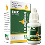 INC Swarnaprashan Drops | 15 ml | FDCA Approved Suvarna Prashan Sanskar | 24CT Pure Gold Extract | For Kids (0 - 15 Years)
