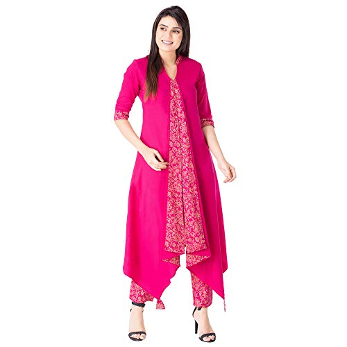 Khushal Women's Cotton Kurti With Palazzo Pant Set