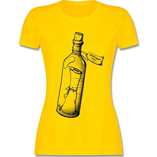 Statement Shirts - Geschenk Flaschenpost - tailliertes Premium T-Shirt mit Rundhalsausschnitt für Damen Gelb