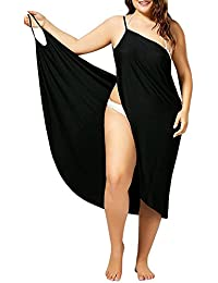 7021fc3707767 Womens Beach Bikini Cover Up Spaghetti Strap Swimwear Wrap Backless Sarong  Dress