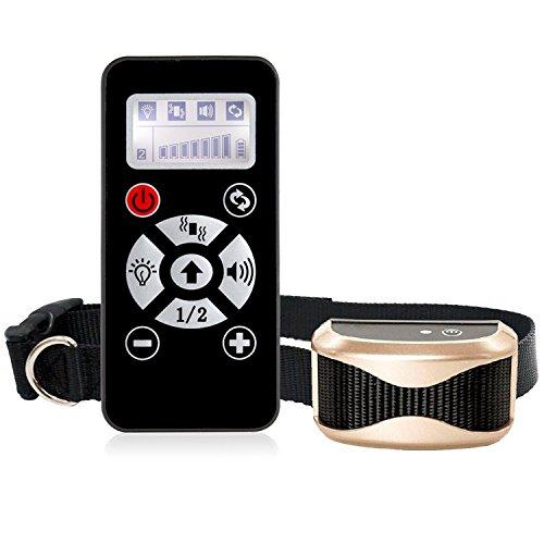 auxic impermeable mando a distancia Anti Bell perro entrenamiento erziehungs Collar Cuello Para Perros Con regulable Vibrations