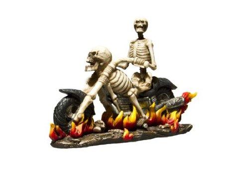 Fantasy Deko Figur Skelett Biker Motorradfahrer