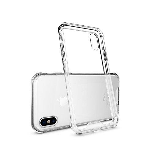 iPhone X Custodia, maxxmobile® Transparente sottile antiscivolo Antigraffio Schlanke cabina, Paraspigoli, Bumper Case Cover Custodia extra slim antiurto, resistente e leggero, Ultra trasparenti acrili «Transparent»