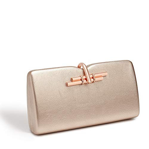 LaBante -Allegro- kleine Handtasche Clutch damemn - Tasche Rosegold Tasche mit kettenhenkel Lady Bag vegan Handbags | Abendtasche Mit Gold Kette Unterarmtasche Umhängetasche