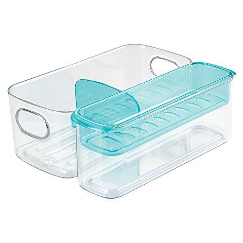 InterDesign 09498EU Suri Rangement pour Tasse et Biberon de Bébé Réglable Plastique Transparent/Aqua