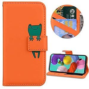 Nadoli Brieftasche für Samsung Galaxy A51,Karikatur Tier Muster Weich Tpu Innere Buchstil Pu Leder Magnetverschluss Kartenfächer Flip Schutzhülle Ledertasche