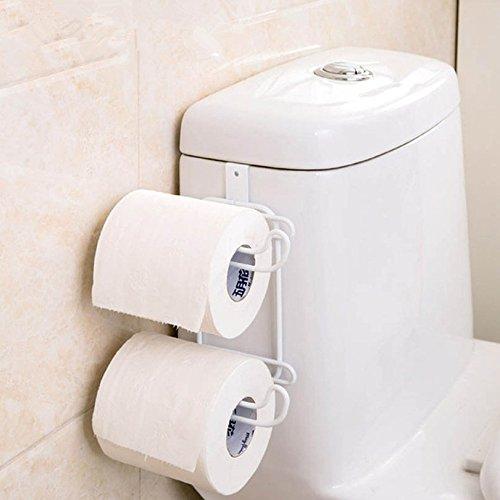 Inovey Badezimmer Küche Hanging Organizer Eisen 2 Schichten Toilettenpapier Haken Regal Schrank Tür Handtuchhalter - 2 Tür-bettwäsche-schrank